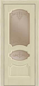 Дверь Лайндор Марта тон 36 стекло Элегия бронза наливка прозрачная