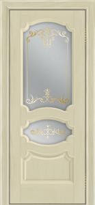 Дверь Лайндор Марта тон 36 стекло Элегия светлое наливка золото