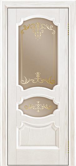 Дверь Лайндор Марта тон 38 стекло Элегия бронза наливка золото
