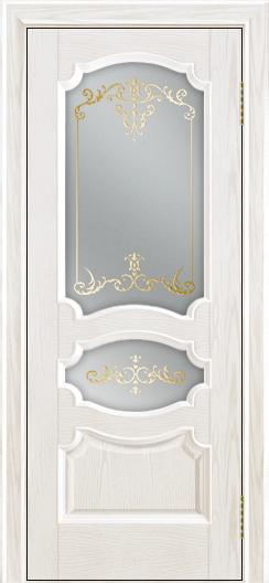 Дверь Лайндор Марта тон 38 стекло Элегия светлое наливка золото