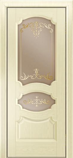 Дверь Лайндор Марта тон 42 стекло Элегия бронза наливка золото