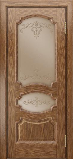 Дверь Лайндор Марта тон 45 стекло Элегия бронза наливка прозрачная