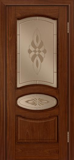Дверь Лайндор Оливия Л тон 10 стекло Византия бронза