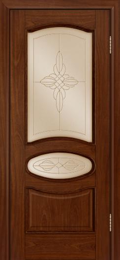 Дверь Лайндор Оливия Л тон 10 стекло Ювелия бронза