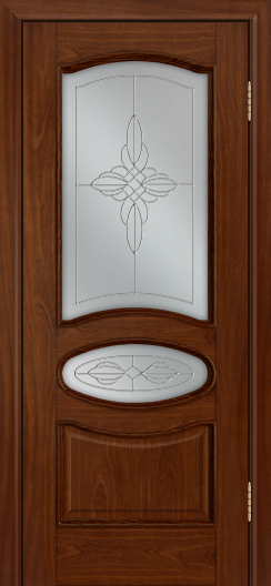 Дверь Лайндор Оливия Л тон 10 стекло Ювелия светлое