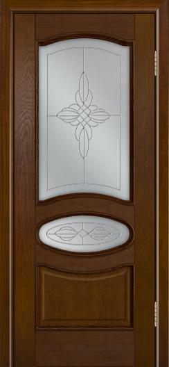 Дверь Лайндор Оливия Л тон 30 стекло Ювелия светлое