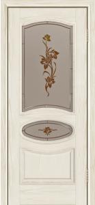 Дверь Лайндор Оливия Л тон 34 стекло Рим-СТ