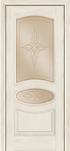 Дверь Лайндор Оливия Л тон 34 стекло Ювелия бронза
