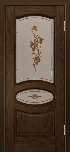Дверь Лайндор Оливия Л тон 35 стекло Рим-СТ