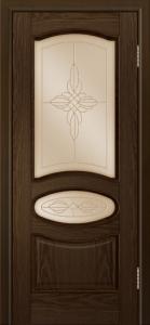 Дверь Лайндор Оливия Л тон 35 стекло Ювелия бронза