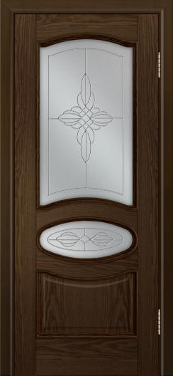 Дверь Лайндор Оливия Л тон 35 стекло Ювелия светлое