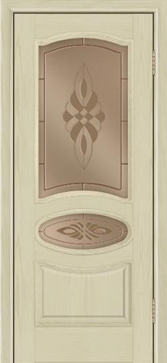 Дверь Лайндор Оливия Л тон 36 стекло Византия бронза