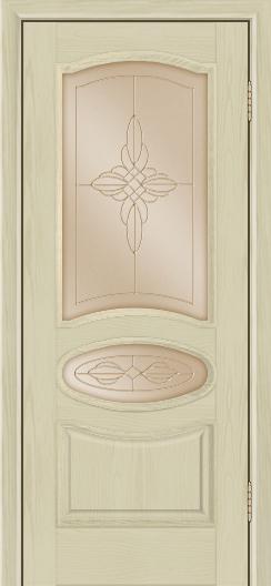 Дверь Лайндор Оливия Л тон 36 стекло Ювелия бронза