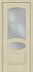 Дверь Лайндор Оливия Л тон 36 стекло Ювелия светлое