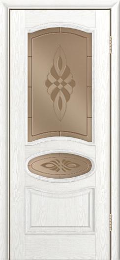 Дверь Лайндор Оливия Л тон 38 стекло Византия бронза