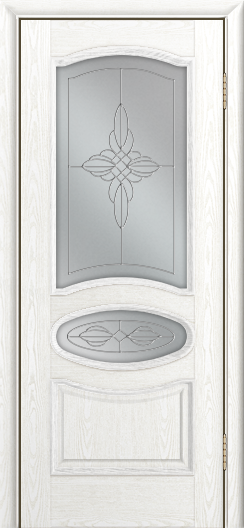 Дверь Лайндор Оливия Л тон 38 стекло Ювелия светлое
