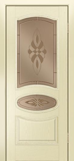 Дверь Лайндор Оливия Л тон 42 стекло Византия бронза