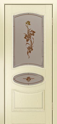 Дверь Лайндор Оливия Л тон 42 стекло Рим-СТ