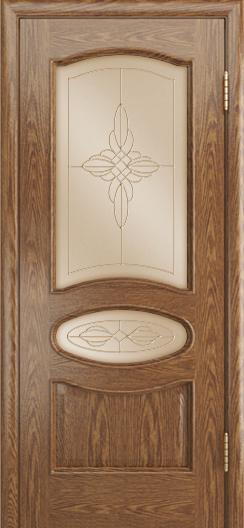 Дверь Лайндор Оливия Л тон 45 стекло Ювелия бронза