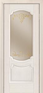 Дверь Лайндор Селеста тон 27 стекло Элегия бронза наливка золото