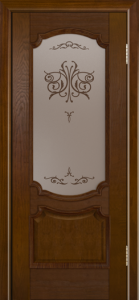 Дверь Лайндор Селеста тон 30 стекло Бабочка бронза