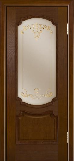 Дверь Лайндор Селеста тон 30 стекло Элегия бронза наливка золото