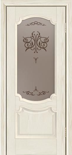 Дверь Лайндор Селеста тон 34 стекло Бабочка бронза