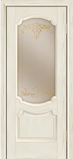 Дверь Лайндор Селеста тон 34 стекло Элегия бронза наливка золото