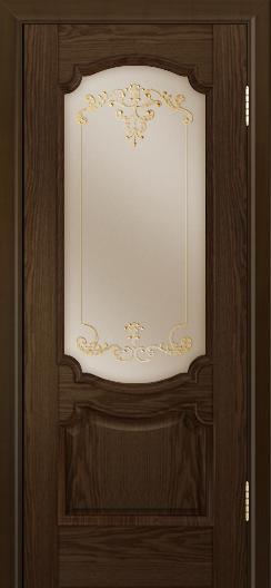 Дверь Лайндор Селеста тон 35 стекло Элегия бронза наливка золото