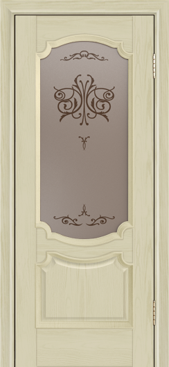 Дверь Лайндор Селеста тон 36 стекло Бабочка бронза
