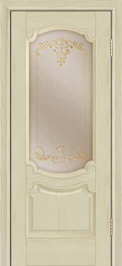 Дверь Лайндор Селеста тон 36 стекло Элегия бронза наливка золото