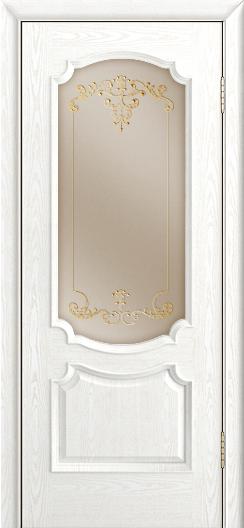 Дверь Лайндор Селеста тон 38 стекло Элегия бронза наливка золото