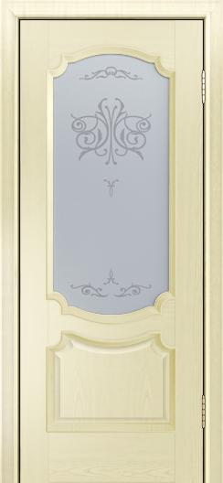Дверь Лайндор Селеста тон 42 стекло Бабочка светлое