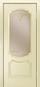 Дверь Лайндор Селеста тон 42 стекло Элегия бронза наливка золото