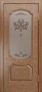 Дверь Лайндор Селеста тон 45 стекло Бабочка бронза