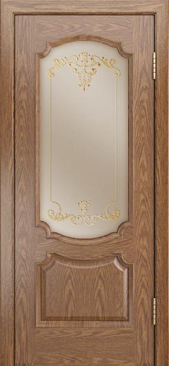 Дверь Лайндор Селеста тон 45 стекло Элегия бронза наливка золото