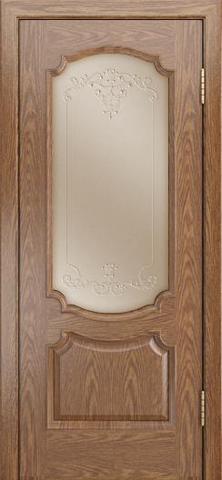 Дверь Лайндор Селеста тон 45 стекло Элегия бронза наливка прозрачная