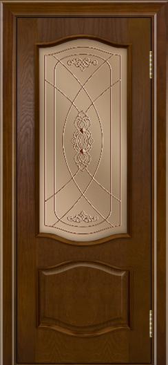 Дверь Лайндор София тон 30 стекло Бронза фреза