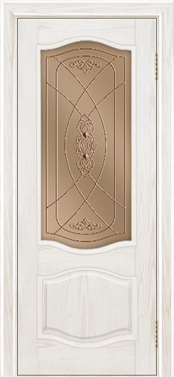 Дверь Лайндор София тон 38 стекло Бронза фреза
