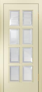 Двери Лайндор Аврора К эмаль бисквит стекло фацет