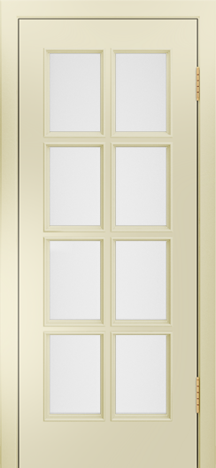 Двери Лайндор Аврора К эмаль бискит стекло белое