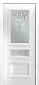 Двери Лайндор Агата Д эмаль белая стекло Версаль