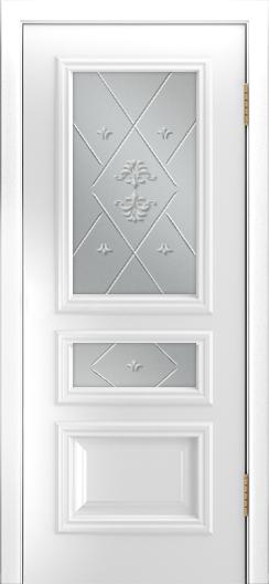 Двери Лайндор Агата Д эмаль белая стекло Прима