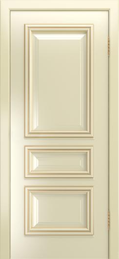 Двери Лайндор Агата Д эмаль бисквит патина золото