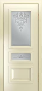 Двери Лайндор Агата Д эмаль бисквит стекло Версаль