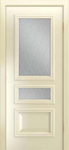 Двери Лайндор Агата Д эмаль бисквит стекло Лондон светлое