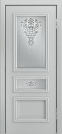 Двери Лайндор Агата Д эмаль серая стекло Версаль