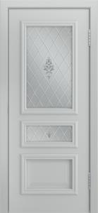 Двери Лайндор Агата Д эмаль серая стекло Лилия светлое
