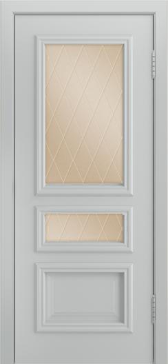 Двери Лайндор Агата Д эмаль серая стекло Лондон бронза