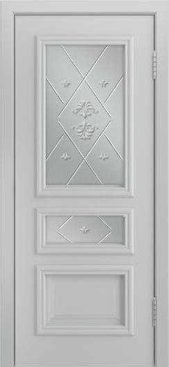 Двери Лайндор Агата Д эмаль серая стекло Прима